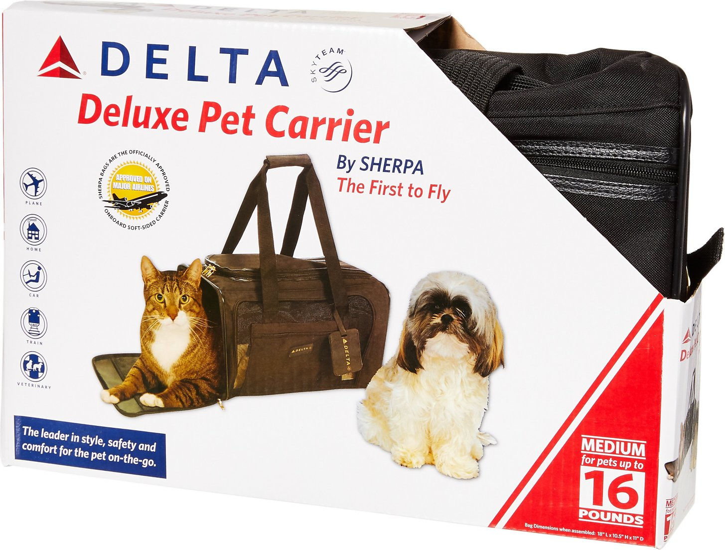 f216d063e6 Sherpa Delta Pet Carrier, Medium - Chewy.com