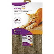 SmartyKat Super Scratcher+ with Catnip Cat Scratcher, Wide