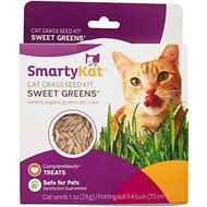 SmartyKat Sweet Greens Cat Grass Seed Kit, 1-oz