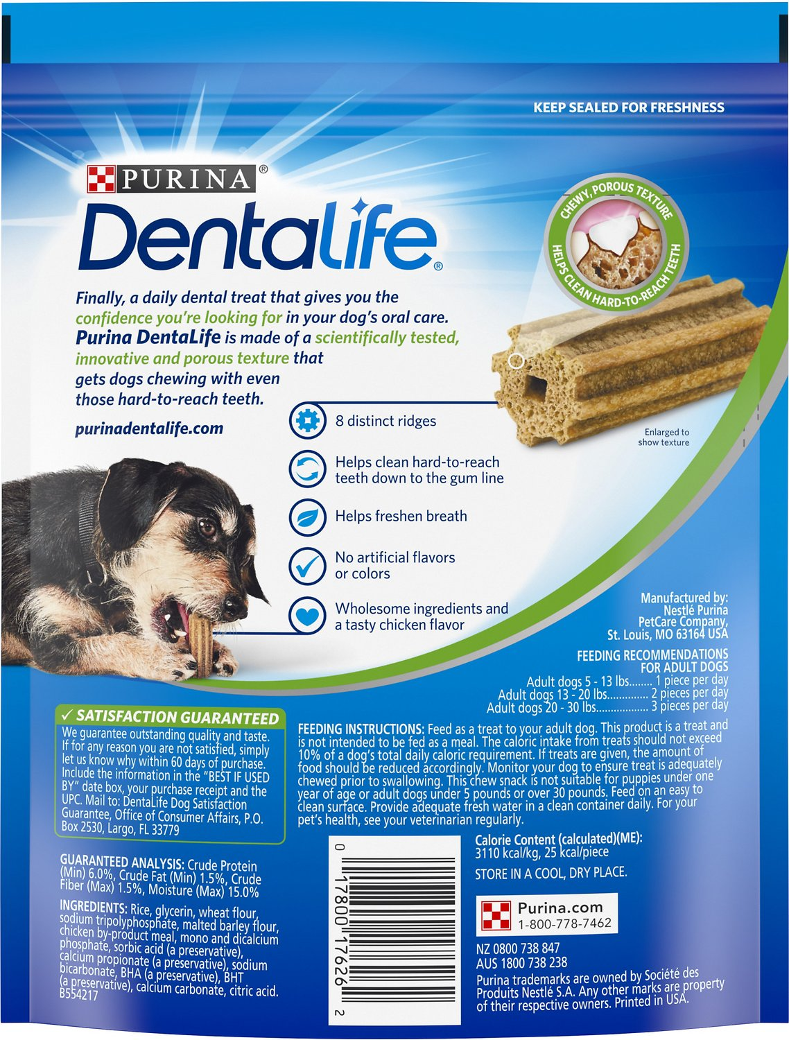DentaLife Daily Oral Care Mini Dental Dog Treats, 24 count ...