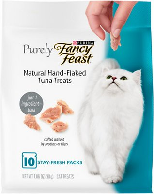 3. Fancy Feast Purely Natural Hand-Flaked Tuna Cat Treats