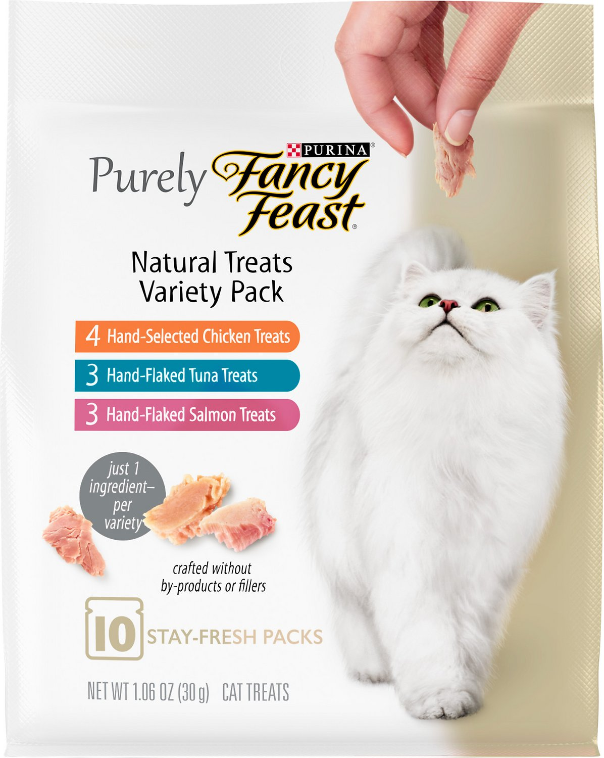 Fancy Feast Purely Natural Treats Variety Pack Cat 1 06 Oz