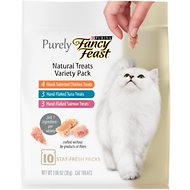Fancy Feast Purely Natural Treats Variety Pack Cat Treats, 1.06-oz pouch