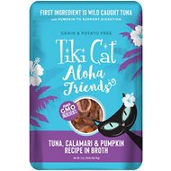 Tiki Cat Aloha Friends Tuna with Calamari & Pumpkin Grain-Free Wet Cat Food, 3-oz pouch, case of 12