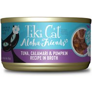 Tiki Cat Aloha Friends Tuna with Calamari & Pumpkin Grain-Free Wet Cat Food, 3-oz can, case of 12
