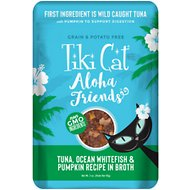 Tiki Cat Aloha Friends Tuna with Ocean Whitefish & Pumpkin Grain-Free Wet Cat Food, 3-oz pouch, case of 12