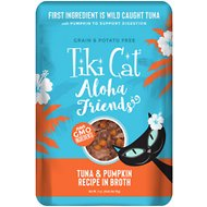 Tiki Cat Aloha Friends Tuna with Pumpkin Grain-Free Wet Cat Food, 3-oz pouch, case of 12