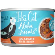 Tiki Cat Aloha Friends Tuna with Pumpkin Grain-Free Wet Cat Food, 5.5-oz can, case of 8