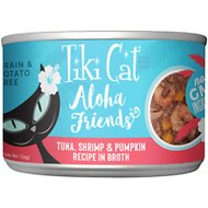 Tiki Cat Aloha Friends Tuna with Shrimp & Pumpkin Grain-Free Wet Cat Food, 5.5-oz can, case of 8