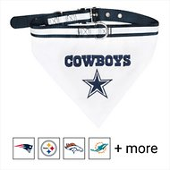 Pets First NFL Dog & Cat Collar, Dallas Cowboys Bandana, Small