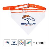 Pets First NFL Bandana Dog & Cat Collar, Denver Broncos, Large
