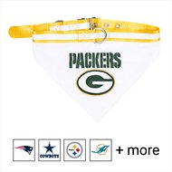 Pets First NFL Bandana Dog & Cat Collar, Green Bay Packers, Large