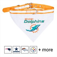 Pets First NFL Bandana Dog & Cat Collar, Miami Dolphins, Large