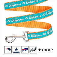 Pets First NFL Dog Leash, Miami Dolphins, Large