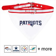 Pets First NFL Bandana Dog & Cat Collar, New England Patriots, Large