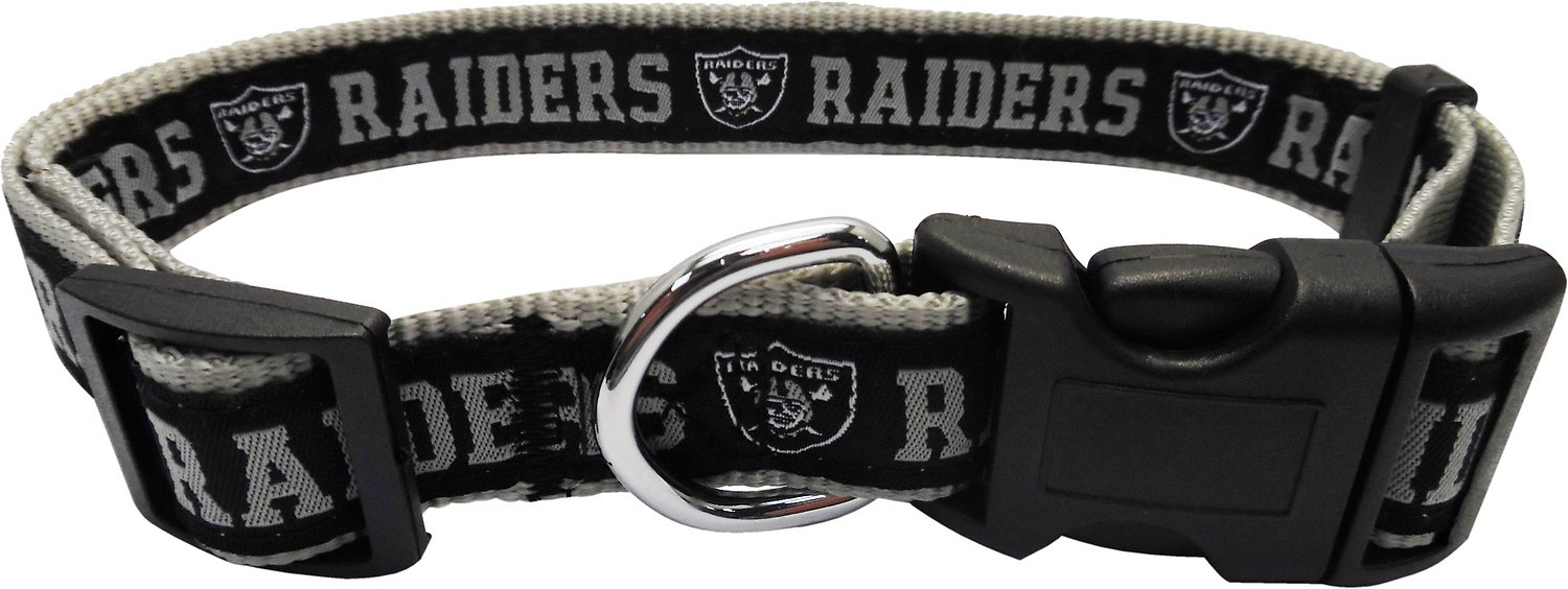 Pets First Nfl Dog Collar Oakland Raiders Large Chewy Com