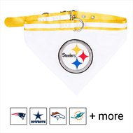 Pets First NFL Bandana Dog & Cat Collar, Pittsburgh Steelers, Large