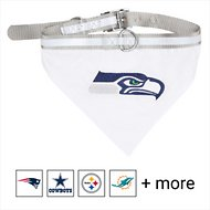Pets First NFL Bandana Dog & Cat Collar, Seattle Seahawks, Large