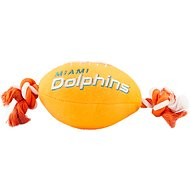 Pets First Miami Dolphins Football Dog Toy, 14-inch