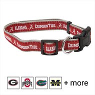 Pets First NCAA Dog Collar, Alabama Crimson Tide, Large