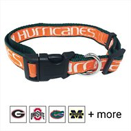 Pets First NCAA Dog Collar, Miami Hurricanes, Large