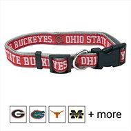 Pets First NCAA Dog Collar, Ohio State Buckeyes, Medium