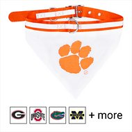 Pets First NCAA Bandana Dog & Cat Collar, Clemson Tigers, Large