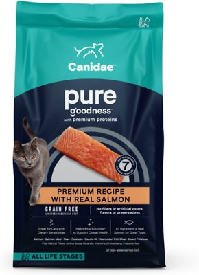 2. CANIDAE PURE Sea Grain-Free Limited Ingredient Diet with Salmon Dry Cat Food