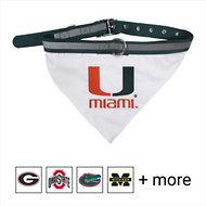 Pets First NCAA Bandana Dog & Cat Collar, Miami Hurricanes, Large