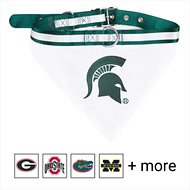 Pets First NCAA Bandana Dog & Cat Collar, Michigan State Spartans, Large