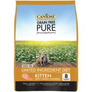 CANIDAE Grain-Free PURE Foundations Kitten Formula with Chicken Limited Ingredient Diet Dry Cat Food, 2.5-lb bag