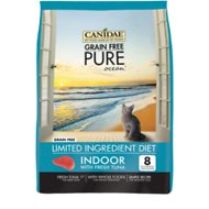 CANIDAE Grain-Free PURE Ocean with Tuna Indoor Formula Limited Ingredient Diet Dry Cat Food, 2.5-lb bag