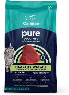 4. CANIDAE PURE Ocean Grain-Free Limited Ingredient with Tuna for Indoor Cats