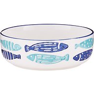 Signature Housewares Coastal Fish Cat Bowl, X-Small