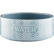 Signature Housewares Embossed Water Dog & Cat Bowl, Aqua, Small