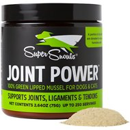 Super Snouts Joint Power Green Lipped Mussel Dog & Cat Supplement, 2.64-oz jar