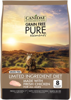 CANIDAE Grain-Free PURE Elements with Chicken Limited Ingredient Diet Dry  Cat Food, 5-lb bag
