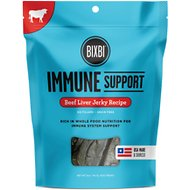 BIXBI Immune Support Beef Liver Jerky Recipe Dog Treats, 5-oz bag