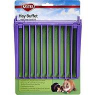 Kaytee Hay Buffet with Snap-Lock Lid Rabbit Feeder, 6.9-inch