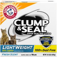Arm & Hammer Litter Clump & Seal LightWeight Fresh Scent Cat Litter, 9-lb box