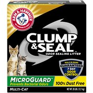 Arm & Hammer Litter Multi-Cat Clump & Seal MicroGuard Fresh Scent Cat Litter, 28-lb box