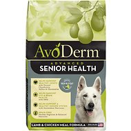 AvoDerm Senior Health Lamb Meal Formula Dry Dog Food, 24-lb bag