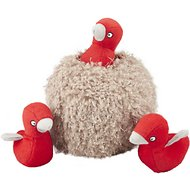 ZippyPaws Burrow Squeaky Hide and Seek Plush Dog Toy, Bird Nest, Puzzle Set
