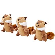 ZippyPaws Burrow Squeaky Hide & Seek Plush Dog Toy, Chipmunk 'n Acorn, Refills
