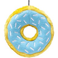 ZippyPaws Donutz Squeaky Plush No Stuffing Dog Toy, Blueberry