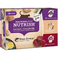 Rachael Ray Nutrish Ocean Lovers Variety Pack Natural Grain-Free Wet Cat Food, 2.8-oz, case of 12