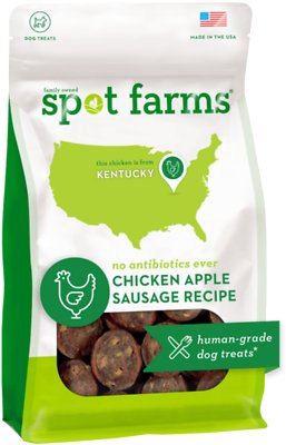 Spot Farms Chicken Apple Sausage Recipe Dog Treats, 12.5-oz bag