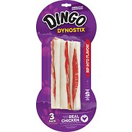 Dingo Dynostix Meat & Rawhide Dog Chew, 3 count