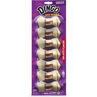 Dingo Mini Meat in the Middle Dog Rawhide Chews, 7 count