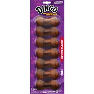 Dingo Mini Meat in the Middle Beefy Flavor Rawhide Dog Chews
